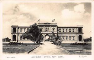 Government Offices, Port Sudan, Sudan, Early Real Photo Postcard, Unused
