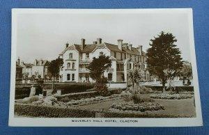 Vintage Real Photo Postcard Waverley Hall Hotel Clacton  Essex C1C