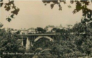 Auckland Grafton Bridge 1920s South Pacific New Zealand Postcard Tanner 8708