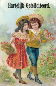 Happy Birthday Vintage Victorian Style Kids Postcard Lot of 8    01.18