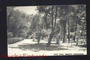 RPPC BENECIA CALIFORNIA DOWNTOWN CITY PARK VINTAGE REAL PHOTO POSTCARD
