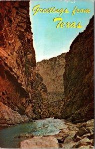 Big Bend  The Grand Canyon of Texas  Mexico Border CHROME POSTCARD