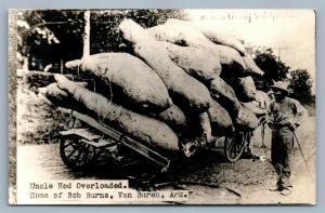 VAN BUREN AR HOME OF BOB BURNS EXAGGERATED 1939 VINTAGE REAL PHOTO POSTCARD RPPC