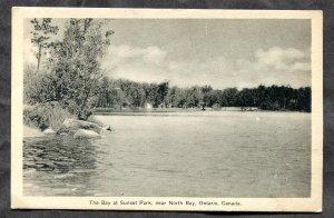 2820 - Canada Postcard. Near NORTH BAY Ontario. The Bay at Sunset Park