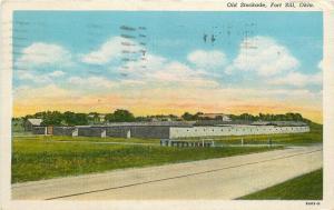 Fort Sill Oklahoma~Old Stockade~1943~Postcard