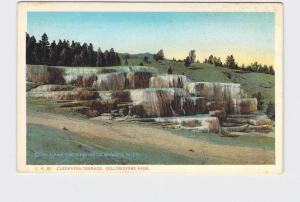 ANTIQUE POSTCARD NATIONAL STATE PARK YELLOWSTONE CLEOPATRA TERRACE #2
