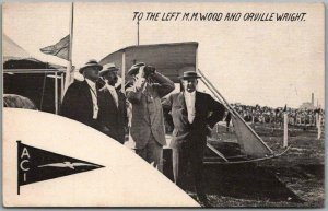 Vintage Early Aviation / Airplane Postcard M.M. WOOD AND ORVILLE WRIGHT Unused