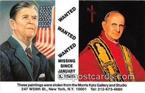 Missing Since Jan 3, 1989 Postcard Paintings Stolen from the Morris Katz Gal...