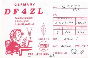 Walldorf German Amateur Radio Station QSL Postcard