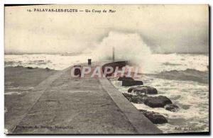 Old Postcard Palavas Un Coup de Mer