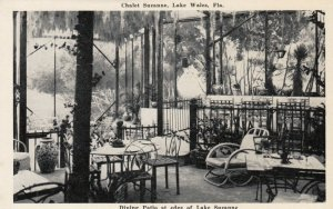 LAKE WALES , Florida , 1930-40s ; Chalet Suzanne , Dining Patio