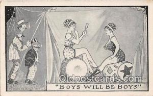 Boys Will Be Boys  Postcard Post Card  Boys Will Be Boys