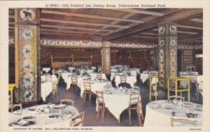 Old Faithfull Inn Dining Room Yellowstone National Park Curteich
