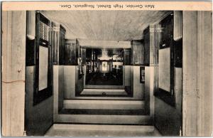 Interior Main Corridor High School Naugatuck CT Vintage Postcard Q03