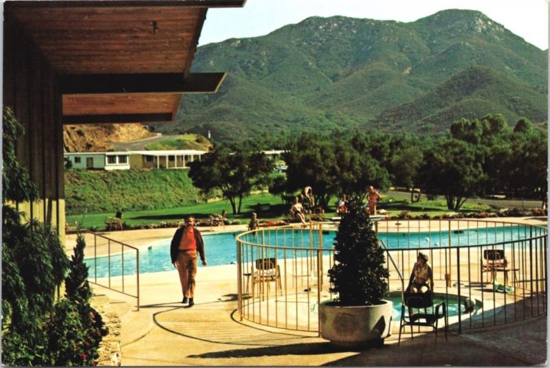 Lawrence Welk's Country Club Village Escondido CA (Welk in picture) Postcard D34