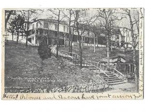 Hotel Minnewawa Pertle Springs Missouri Undivided back Albertype