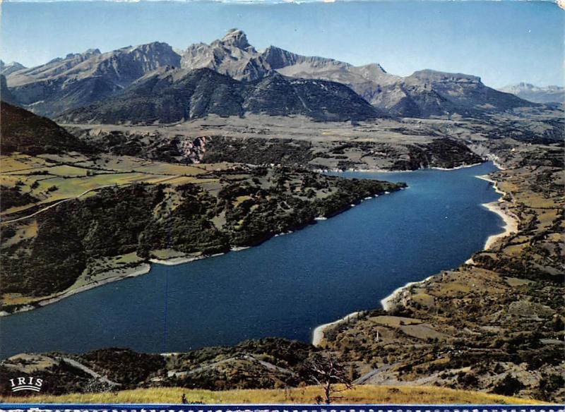 France Corps (Isere) Le Lac du Sautet le Barrage et l'Obiou