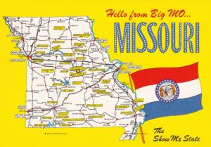Missouri Hello From The Show Me State With Map