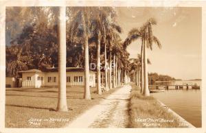 C77/ West Palm Beach Florida Fl Real Photo RPPC Postcard 40s Bethesda Park