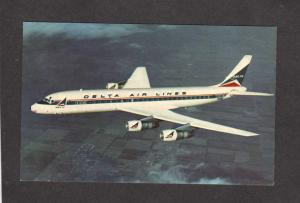 Delta Airlines Airplane Planes DC 8 Fanjet Airplanes Aviation Postcard Air Lines