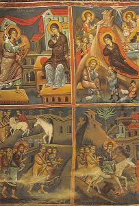 Cyprus Wall painting Ioannis Lampadistis Church Kalopanayiotis