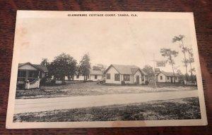 1940s GLENSPRING COTTAGE Court Tampa Florida Roadside Cabin Motel Photo PC