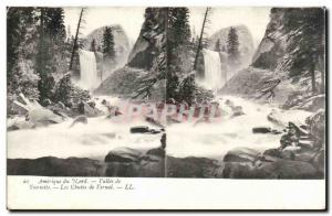 Stereoscopic map - USA - North America - Vallee Yosemite - Vernal Falls - Old...