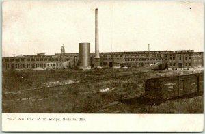 1907 SEDALIA, Missouri Postcard Missouri Pacific Railroad Shops Panorama View