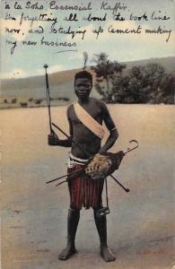 South Africa Pretoria Native Man, Essential Kafir 1911