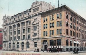 WINNIPEG , Manitoba , Canada , 00-10s ; Post Office & Free Press