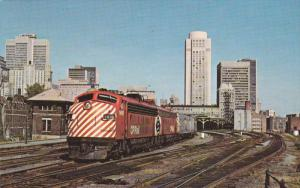 CP Railroad's Train CANADIAN , Windsor Station , MONTREAL , Quebec , Canada...