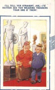 I'll tell yer straight, Joe. I'd .. Bamforth Comic Series postcard # 994
