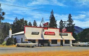 Lakehead CA Klub Klondike Drive-In Restaurant Old Cars Postcard