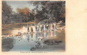Upper Sandusky Ohio River Scene Waterfront Antique Postcard K93079