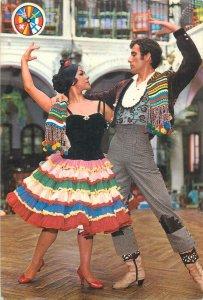 Spain fiesta ballet traditional dance costume postcard