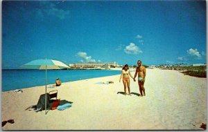 Vintage SINT MARTEEN N.W.I. Postcard Land of Beautiful Beaches c1970s Unused