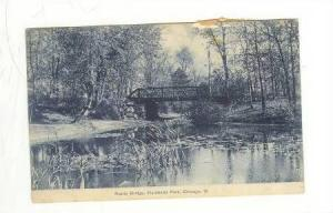 Rustic Bridge, Humboldt Park, Chicago, Illinois, PU-1911