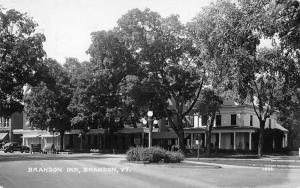 Brandon Vermont Inn Street View Real Photo Antique Postcard K40600