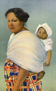 Native Cherokee Indian Mother with her Papoose