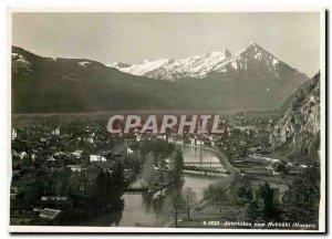 Modern Postcard Interlaken vom Hohbuhl Harder
