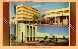 California Hollywood Radio City New Home Of CBS and NBC 1949