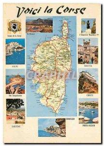 Modern Postcard Here Corsica