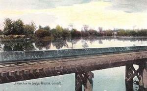 Preston Canada Bridge View Postcard