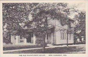 Indiana New Harmony The Old Fauntleroy House Albertype