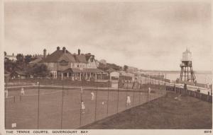 Dovercourt Sports Club Tennis Courts Vintage Old Postcard