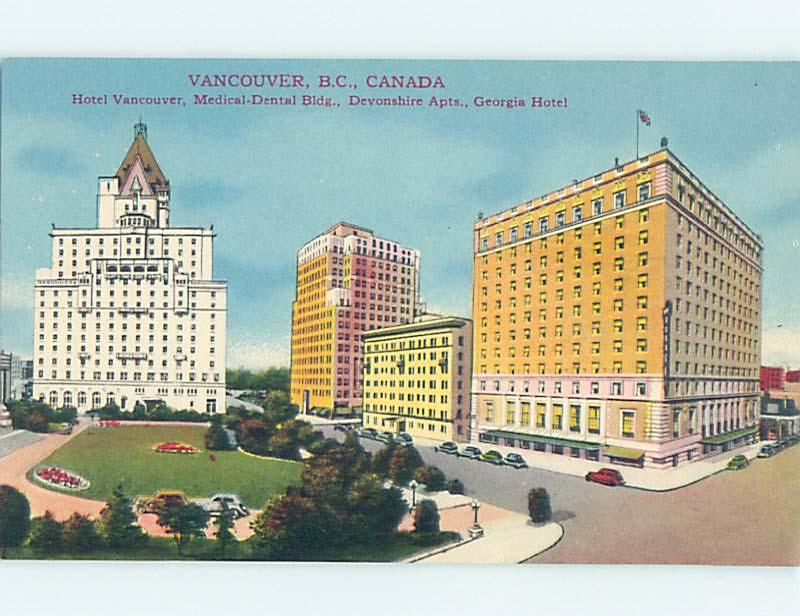 Unused Divided-Back TOWN VIEW SCENE Vancouver British Columbia BC o0752