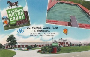 South Carolina Manning Paddock Motor Court and Restaurant 1961 sk3616