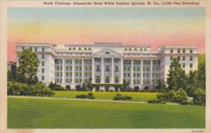 West Virginia White Sulphur Springs The Greenbrier Hotel North Frontage Curteich