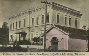 brazil, SÃO JOÃO DEL-REI Minas Gerais, Colégio Nossa Senhora das Dores 1905 RPPC