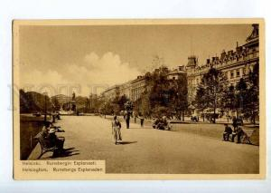 247109 FINLAND HELSINKI Runeberg esplanade Vintage postcard